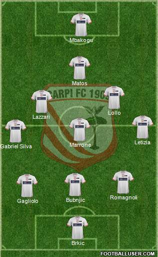 Carpi 3-5-1-1 football formation