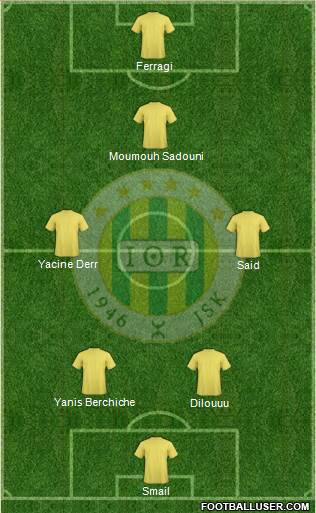 Jeunesse Sportive de Kabylie 4-2-3-1 football formation