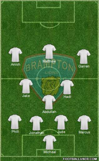 Brampton Lions FC 4-1-2-3 football formation