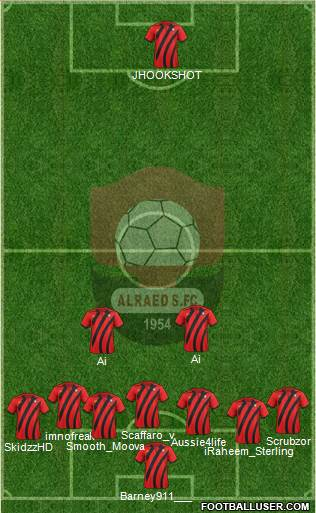 Al-Ra'eed 5-4-1 football formation