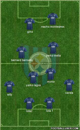 CD Huachipato 4-5-1 football formation