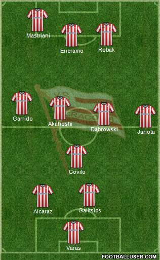 Cracovia Krakow 3-5-2 football formation