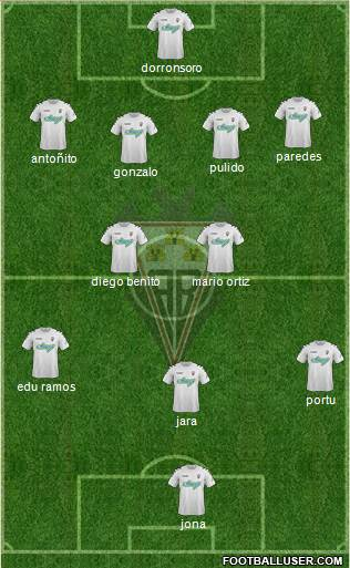 Albacete B., S.A.D. 4-5-1 football formation