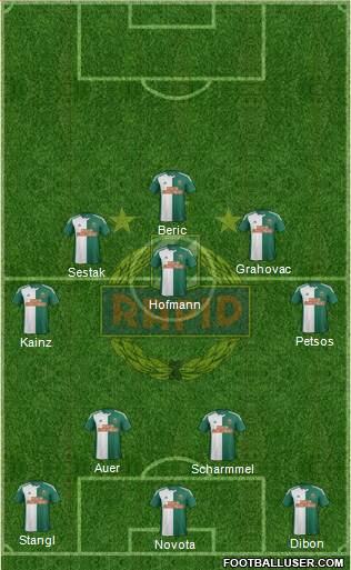 SK Rapid Wien 4-3-3 football formation