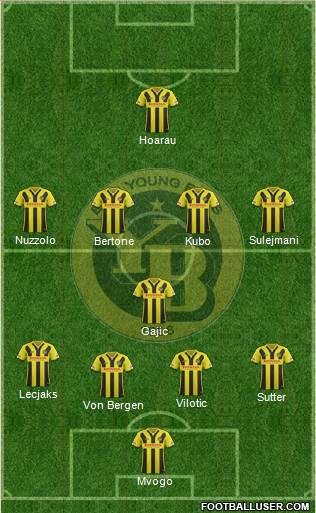 BSC Young Boys 4-1-4-1 football formation