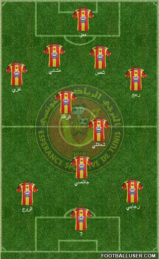 Espérance Sportive de Tunis 4-4-2 football formation