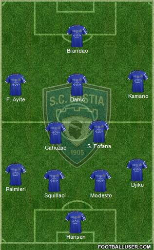 Sporting Club Bastia 4-1-2-3 football formation