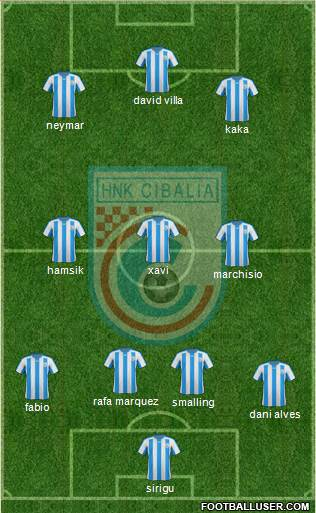 HNK Cibalia 4-3-3 football formation