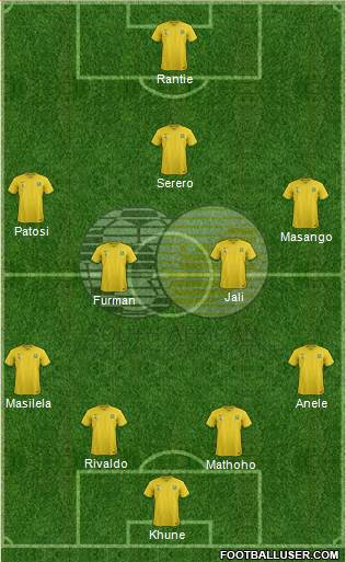 South Africa 4-5-1 football formation