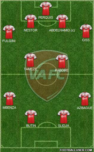 Valenciennes Football Club 4-2-2-2 football formation