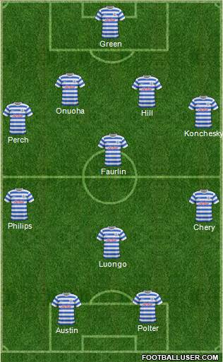 Queens Park Rangers 4-2-1-3 football formation