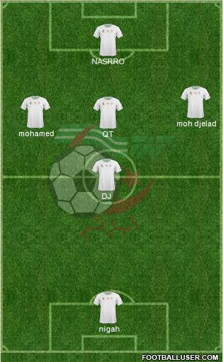 Algeria 4-1-3-2 football formation