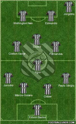 Figueirense FC 4-1-3-2 football formation