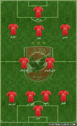 Al-Ahly Sporting Club 4-4-1-1 football formation