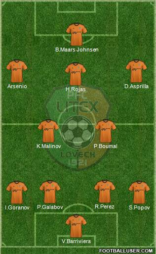 Litex (Lovech) 4-2-3-1 football formation