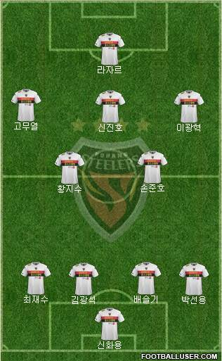 Pohang Steelers 4-1-2-3 football formation
