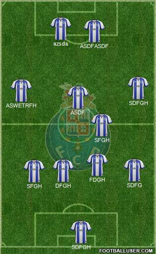 Futebol Clube do Porto - SAD 3-5-1-1 football formation