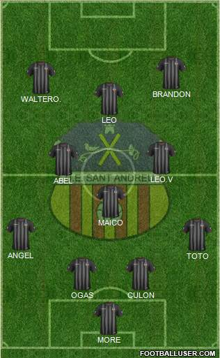 U.E. Sant Andreu 4-1-2-3 football formation
