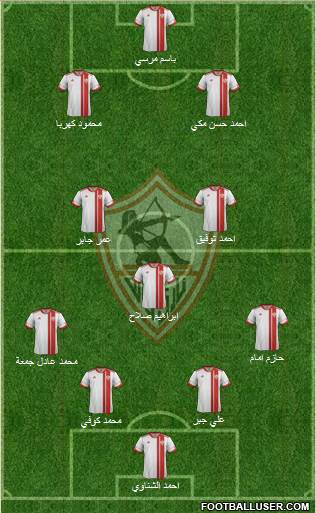 Zamalek Sporting Club 4-3-3 football formation