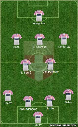Evian Thonon Gaillard Football Club 4-2-3-1 football formation