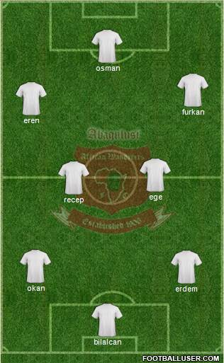 African Wanderers 3-5-2 football formation