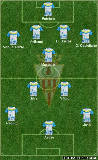 Algeciras C.F. 3-5-2 football formation