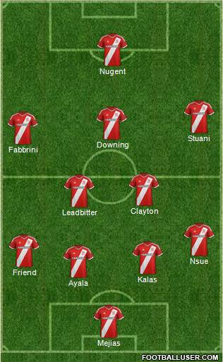 Middlesbrough 3-5-1-1 football formation