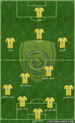 Al-Nassr (KSA) 4-5-1 football formation