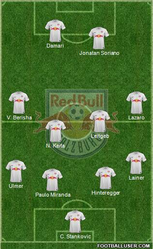 FC Salzburg 3-5-2 football formation