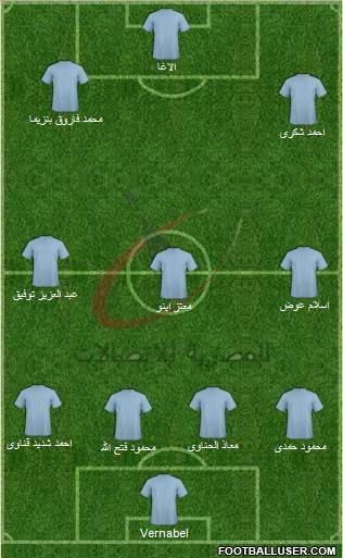 Telecom Egypt 5-3-2 football formation