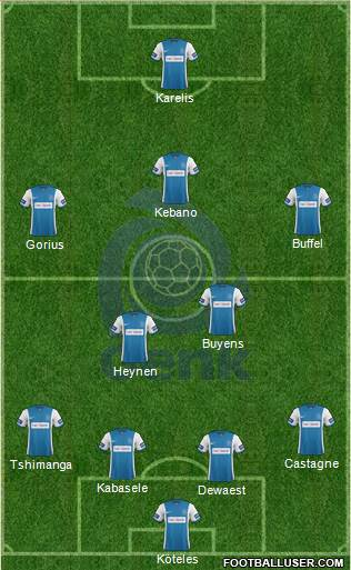 K Racing Club Genk 4-2-1-3 football formation