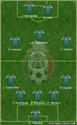 Mexico 5-3-2 football formation
