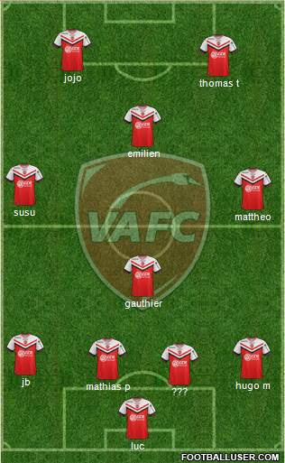 Valenciennes Football Club 4-4-2 football formation