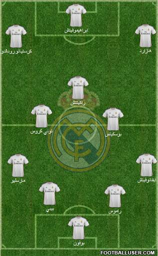 R. Madrid Castilla 4-2-3-1 football formation