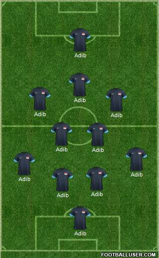 Singapore 4-5-1 football formation