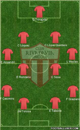 Rivadavia 4-4-2 football formation