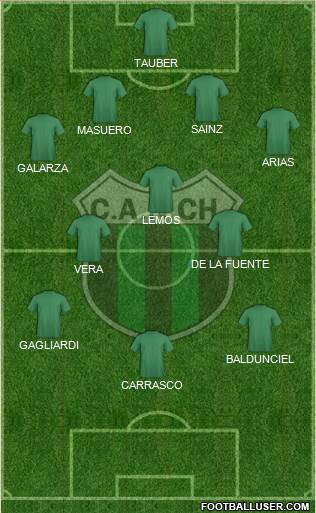 Nueva Chicago 4-5-1 football formation
