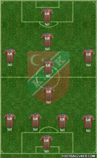 Karsiyaka 4-5-1 football formation