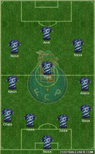 Futebol Clube do Porto - SAD 4-3-1-2 football formation