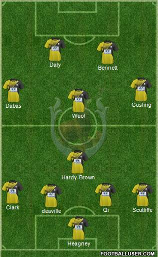 Tampines Rovers FC 5-3-2 football formation