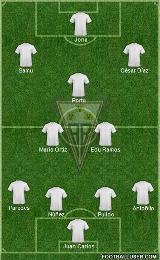 Albacete B., S.A.D. 4-2-3-1 football formation