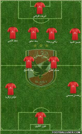 Al-Ahly Sporting Club 4-3-2-1 football formation