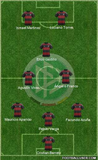 Germany 4-4-2 football formation