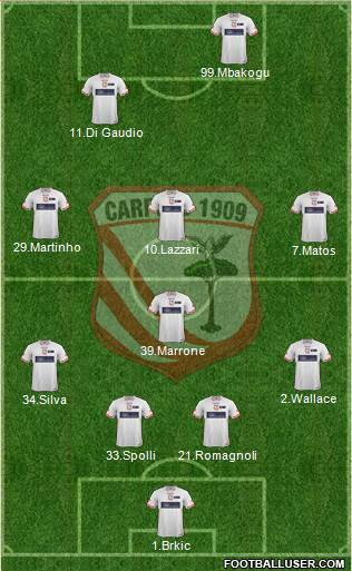 Carpi 4-1-3-2 football formation