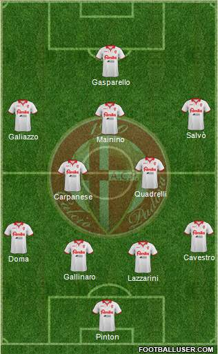 Padova 4-2-3-1 football formation
