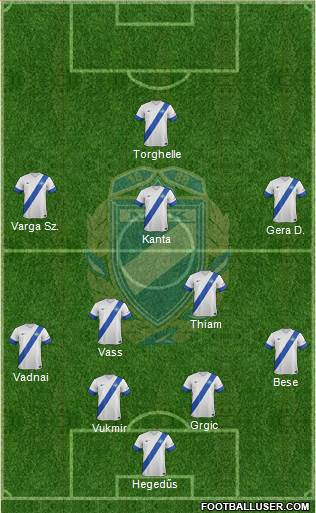 MTK Budapest FC 4-2-3-1 football formation