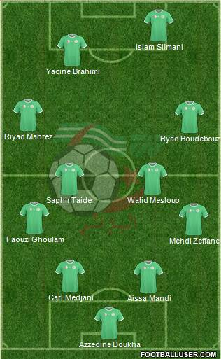 Algeria 4-4-2 football formation