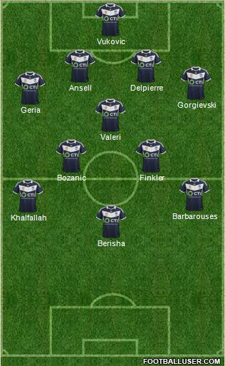 Melbourne Victory FC 4-1-2-3 football formation