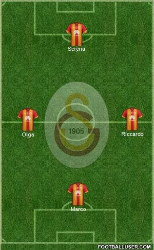 Galatasaray SK 3-4-3 football formation