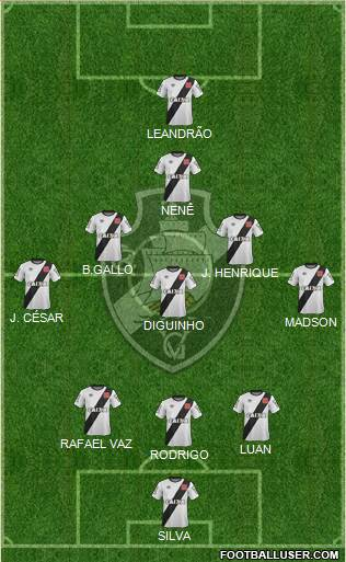 CR Vasco da Gama 3-5-1-1 football formation